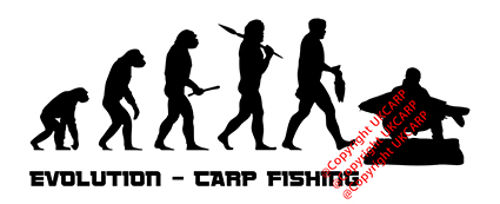Carp Fishing Evolution Sticker Small