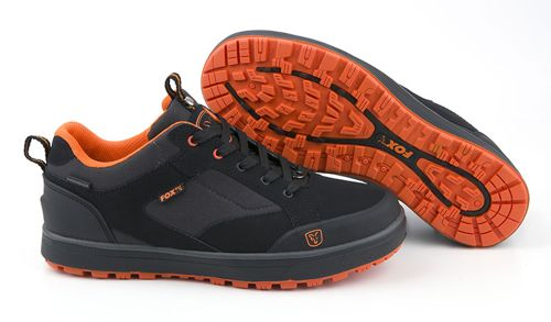 Black & Orange Trainers