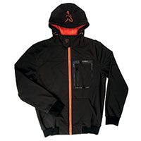 Black Orange Softshell Hoodie
