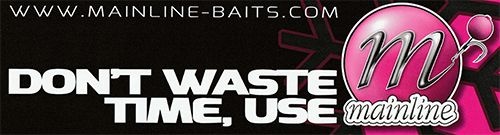 Mainline Baits Waste Time Sticker