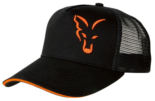 Black & Orange Trucker Cap