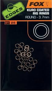 Edges Kuro Coated Round Rig Rings 3.2mm