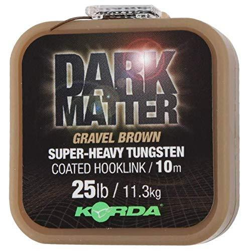 Dark Matter Tungsten Coated Hooklink Gravel Brown 18lb/ 8.1kg 10m