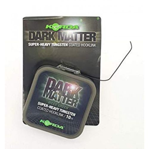 Dark Matter Tungsten Coated Hooklink Weedy Green 18lb/ 8.1kg 10m